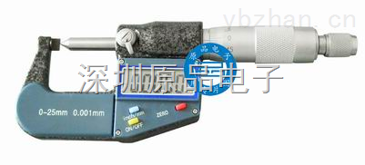 0-25MM-数显电子千分尺 尖扁头电子外径千分尺 端子千分尺0-25MM/0.001