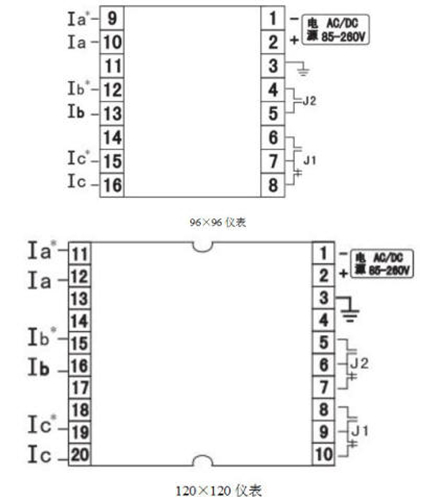 jcj636a智能三相电流表